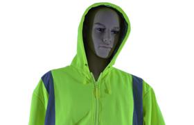 High visibility, insulated rain hooded sweat shirt, Jersey Uniform, Linden, NJ 07036